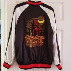 Leatherman style silk embroidered jacket